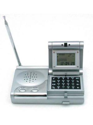 Kalkulator z zegarem wielofunkcyjnym i radiem FM